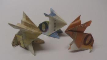 Geld falten ❁ Geldgeschenk basteln ❁ Osterhase